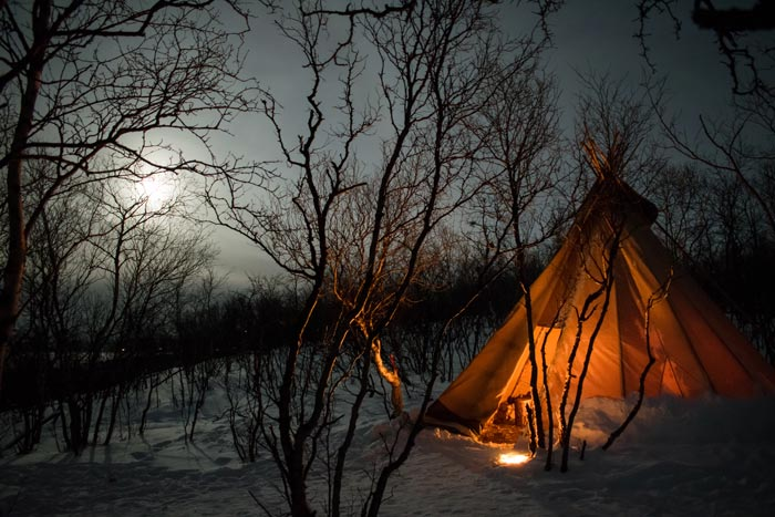 teepee at night